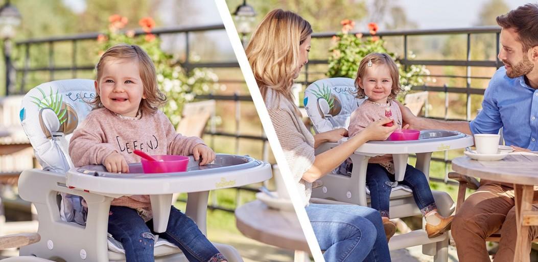 Wielofunkcyjne krzesełko do karmienia 2w1 Baby Design Candy - rośnie razem z dzieckiem