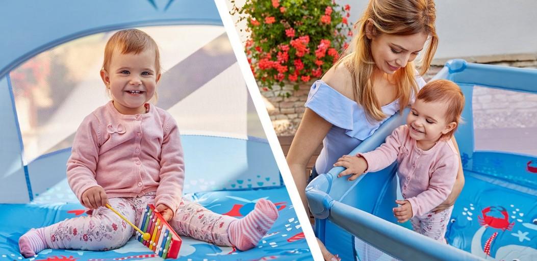 Bezpieczny kąt dla ruchliwego dziecka w kojcu Baby Design Play Up