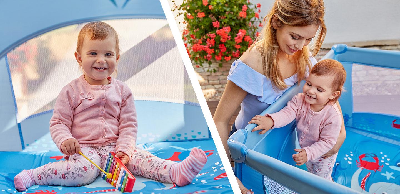 kwadratowy kojec do zabawy Baby Design Play Up
